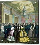President Lincoln's Last Reception Acrylic Print