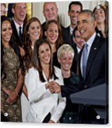 President Obama Honors Us Womens Soccer Team At White House #1 Acrylic Print