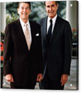 President Reagan And George H.w. Bush - Official Portrait  Acrylic Print