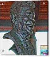 President Reagan Bust Acrylic Print