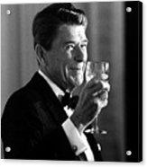 President Reagan Making A Toast Acrylic Print