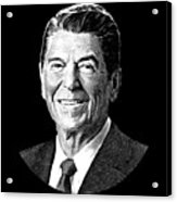 President Ronald Reagan Graphic - Black And White Acrylic Print