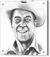 President Ronald Regan Acrylic Print