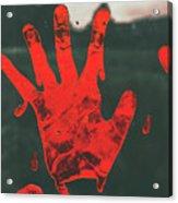 Pressing Terror Acrylic Print