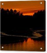 Presumpscot Sunset No.101 Acrylic Print