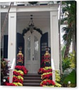 Pretty Christmas Decoration In Key West Acrylic Print