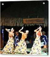 Pretty Dancers In Tahiti Acrylic Print