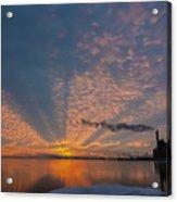 Pretty Industrial Sunrise Acrylic Print