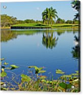 Tranquil Lake In Florida Acrylic Print