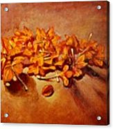 Pretty Little Orange Flowers - Kankaambaram Acrylic Print