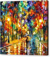 Pretty Night - Palette Knife Oil Painting On Canvas By Leonid Afremov Acrylic Print
