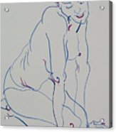 Pretty Nude Woman Acrylic Print