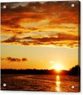 Pretty Orange Sky Acrylic Print