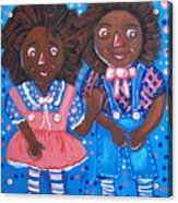 Pretty Peter And Penny Acrylic Print