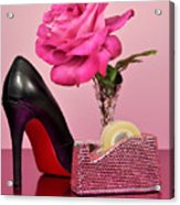 Pretty Pink Bling Office Accessories Acrylic Print