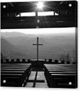 Pretty Place Aka Fred W. Symmes Chapel Black And White Acrylic Print