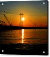 Price Legg Bridge Sunset Acrylic Print