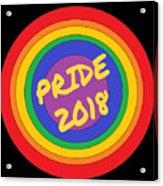 Pride Circles Acrylic Print