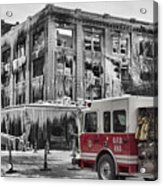 Pride, Commitment, And Service -after The Fire Acrylic Print by Jeff Swanson