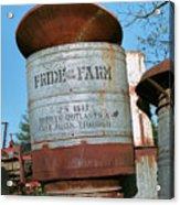 Pride Of The Farm 25 Bushel Feeder Acrylic Print
