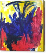 Primary Color Abstract Acrylic Print
