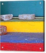 Primary Colored Doorstep Acrylic Print
