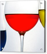 Primary Colors In Glass Acrylic Print