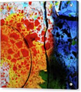 Primary Crystal Abstract Acrylic Print