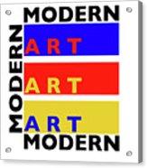 Primary Modern Acrylic Print