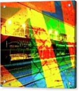 Primary Night Train Acrylic Print