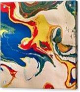 Primary Splash Acrylic Print