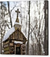 Primitive Church In The Mountains Acrylic Print