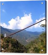 Primitive Suspension Bridge Acrylic Print