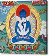 Primordial Buddha Kuntuzangpo Acrylic Print