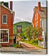 Prince And The Pauper Restaurant In Woodstock-vermont  Acrylic Print