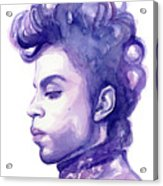 Prince Musician Watercolor Portrait Acrylic Print