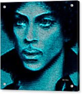Prince - Tribute In Blue Acrylic Print