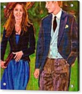 Prince William And Kate The Young Royals Acrylic Print by Carole Spandau