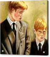 Prince William And Prince Harry Acrylic Print