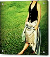 Princess Along The Grass Acrylic Print