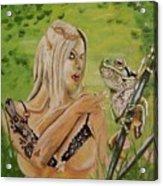 Princess And Frog Acrylic Print