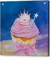 Princess Cupcake Acrylic Print