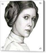 Princess Leia Watercolor Portrait Acrylic Print
