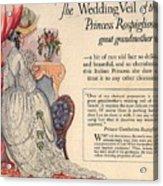 Princess Rospigliosi Ephemera Vintage Acrylic Print