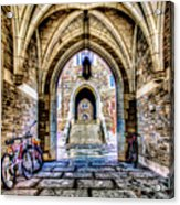 Princeton University Arches And Stairway To Education Acrylic Print