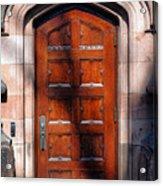 Princeton University Wood Door  Acrylic Print