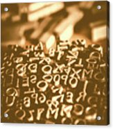 Print Industry Typographic Letters And Numbers Acrylic Print