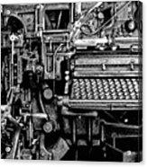 Printing Press Acrylic Print by Kenneth Mucke