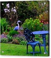 Priscillas English Garden Acrylic Print