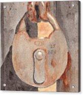 Prison Lock Acrylic Print